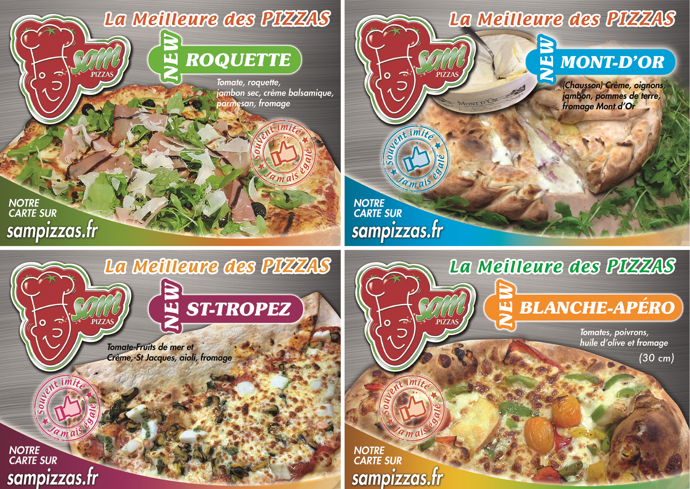 SAMPIZZAS Nouvelles pizzas SUGGESTION NOVEMBRE 2015